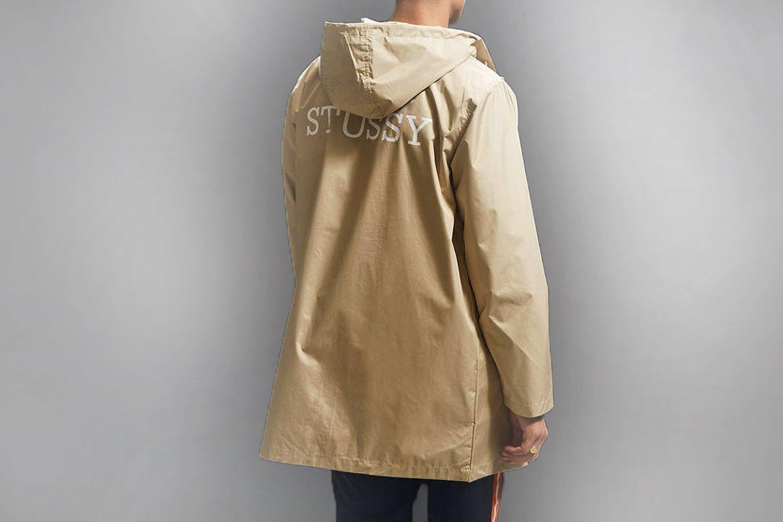Long rain jacket with hood