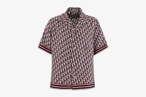 Oblique Silk Shirt