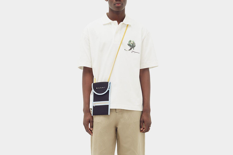 Mala Artichoke-Print Cotton-Piqué Polo Shirt