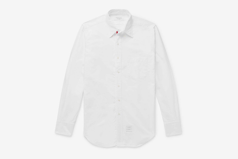 Slim-Fit Button-Down Collar Cotton-Poplin Shirt