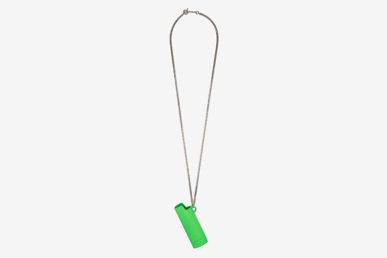 Lighter Case Metal Necklace