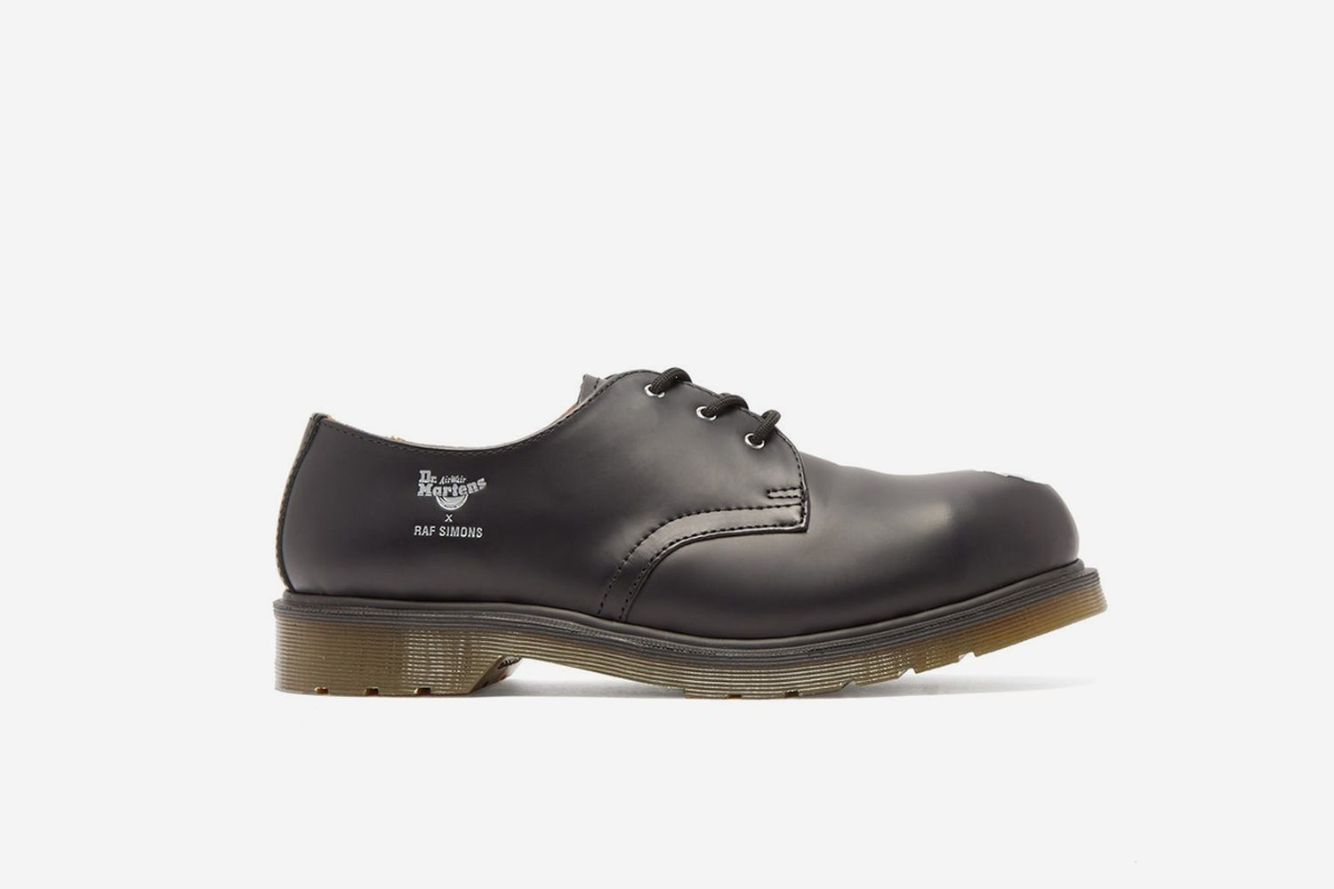 Asymmetric Steel-Toe Leather Shoes