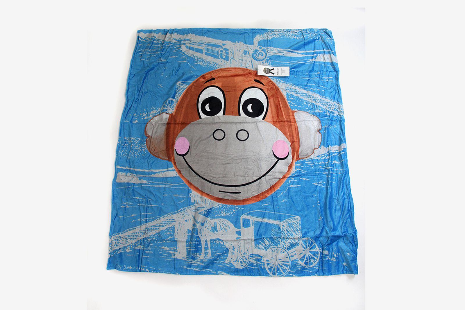 Jeff Koons Monkey Train Beach Towel