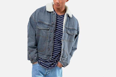 Fleece Lined Oversized Denim Jacket