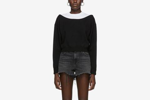 Cropped Bi-Layer Sweater