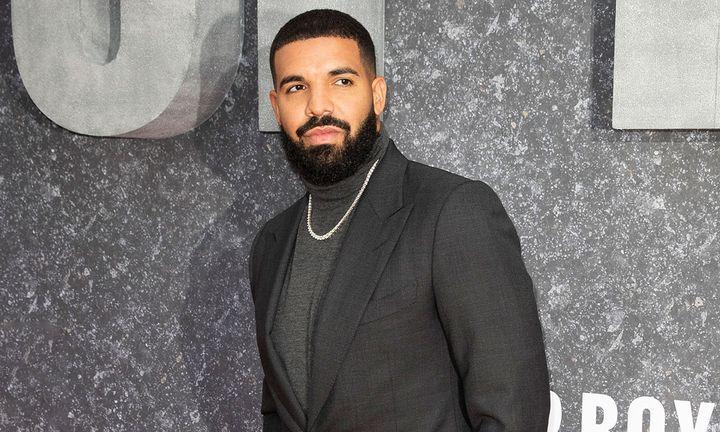 Drake grey suit 'Top Boy' premier
