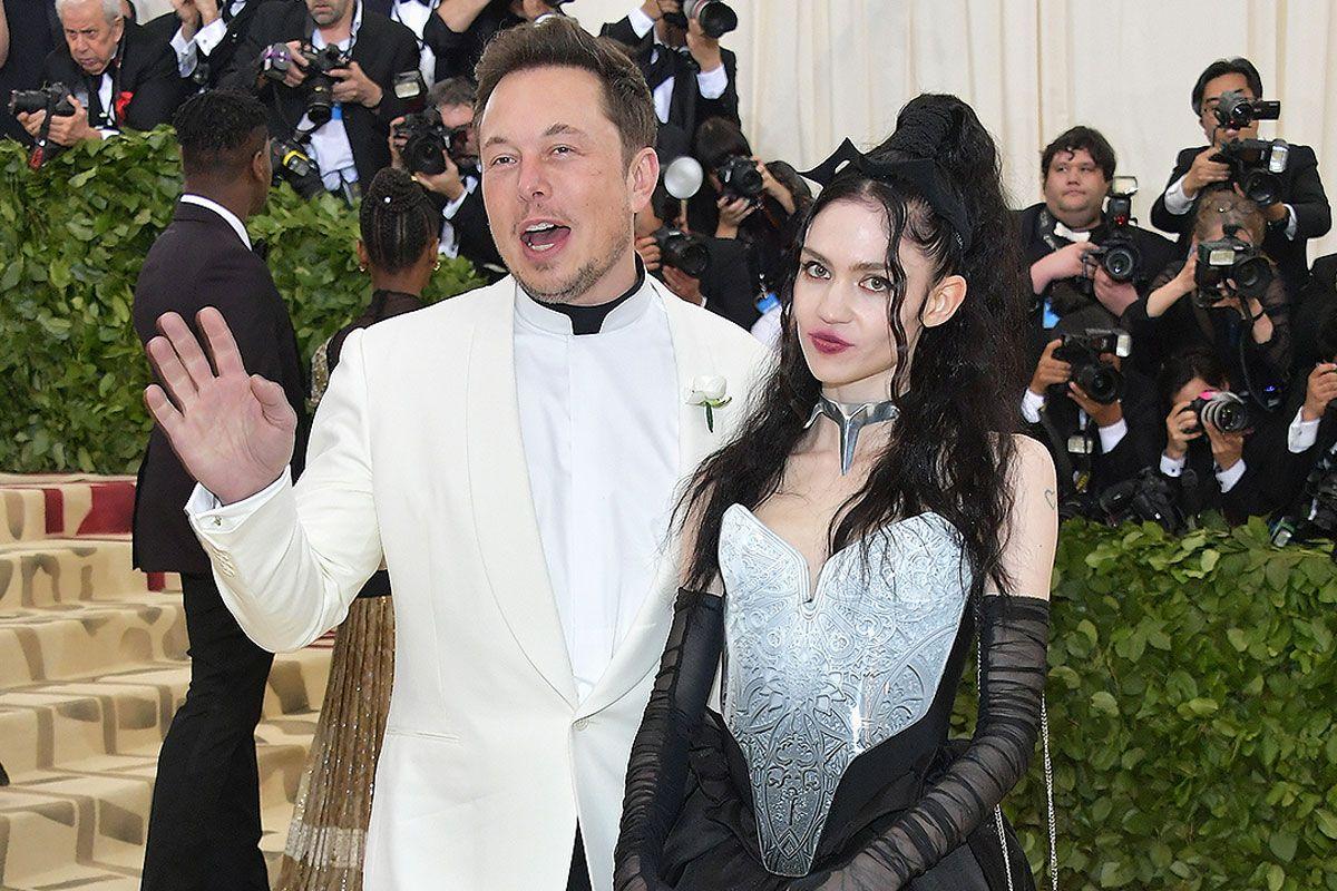 Grimes and Elon Musk Met Gala red carpet