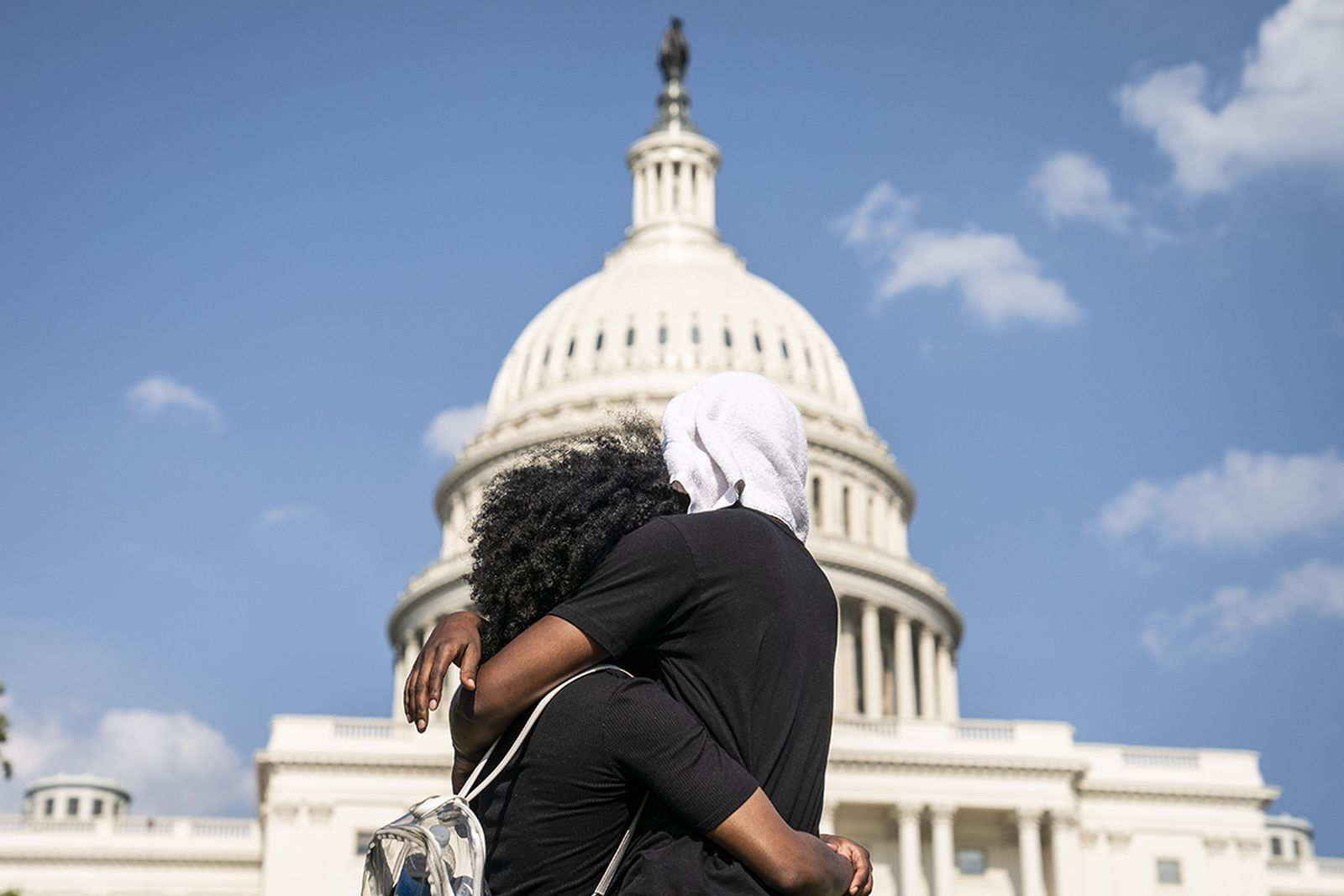 People gather at the U.S. Capitol during a peaceful protest against police brutality