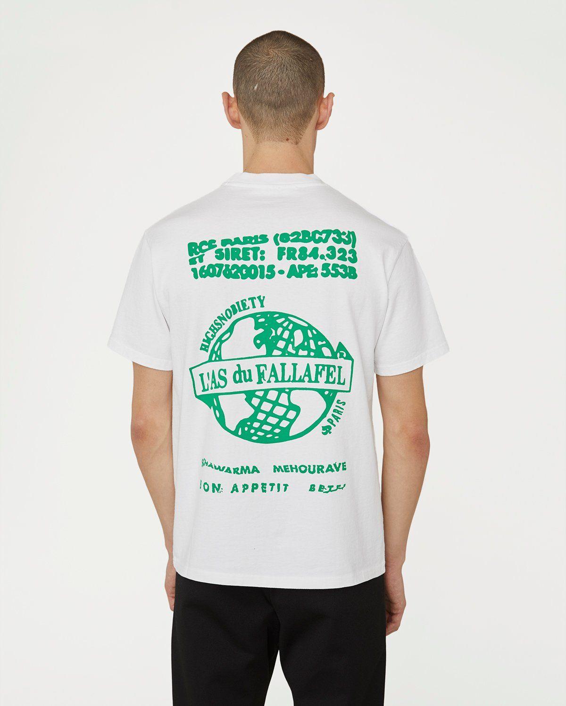Highsnobiety x L'AS du FALLAFEL - Logo T-Shirt White - Image 4