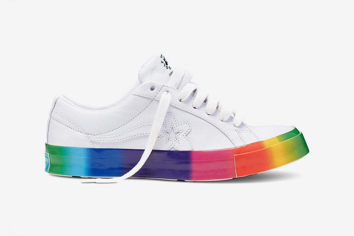 An Official Look at Tyler, the Creator's Rainbow GOLF le FLEUR* x Converse One Star for Pride Month
