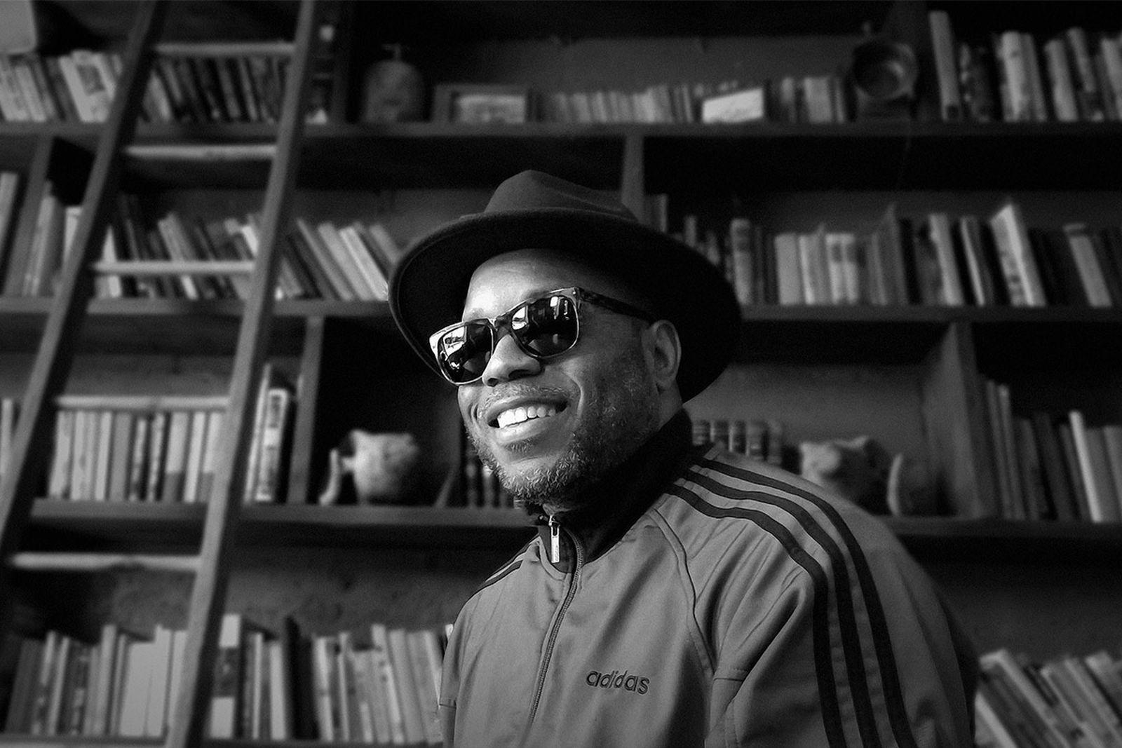 "Dwayne ""Dubelyoo"" Wright, curator of traveling art and music exhibition 'Art, Beats & Lyrics.'"