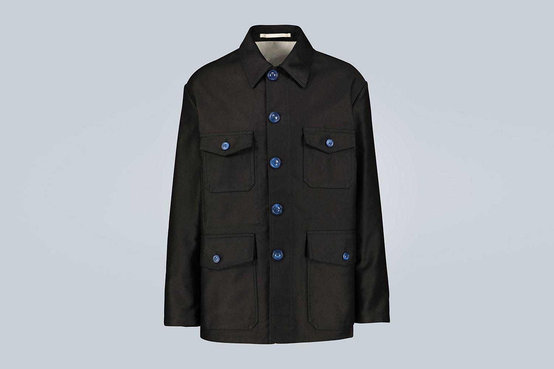 Compact Moleskin Satin Jacket