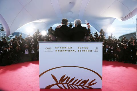 Jean-Pierre Dardenne and Luc Dardenne pose at Cannes Film Festival