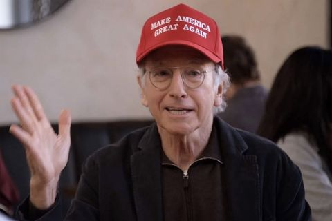 Trump promotes Larry David's MAGA hat spoof. Did he get the joke?