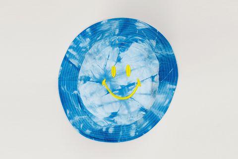 Smiley Blue Bucket Hat