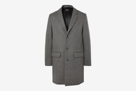 Manteau Mélange Wool-Blend Overcoat