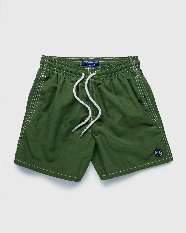 Vilebrequin x Highsnobiety — Logo Shorts Green - Image 1