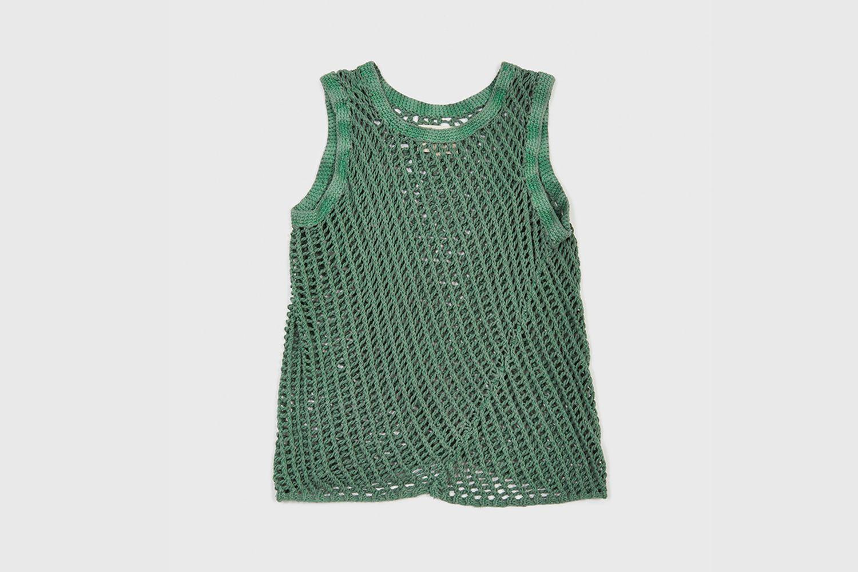 Handknitted Garment Dyed Vest