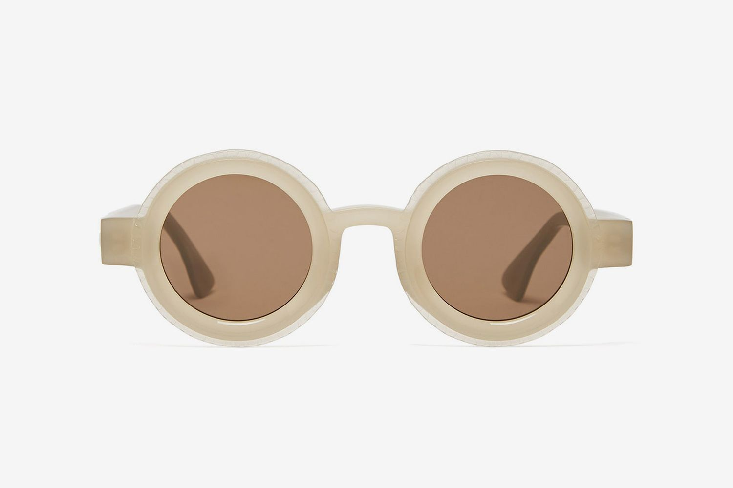 Round Matte-Acetate Sunglasses