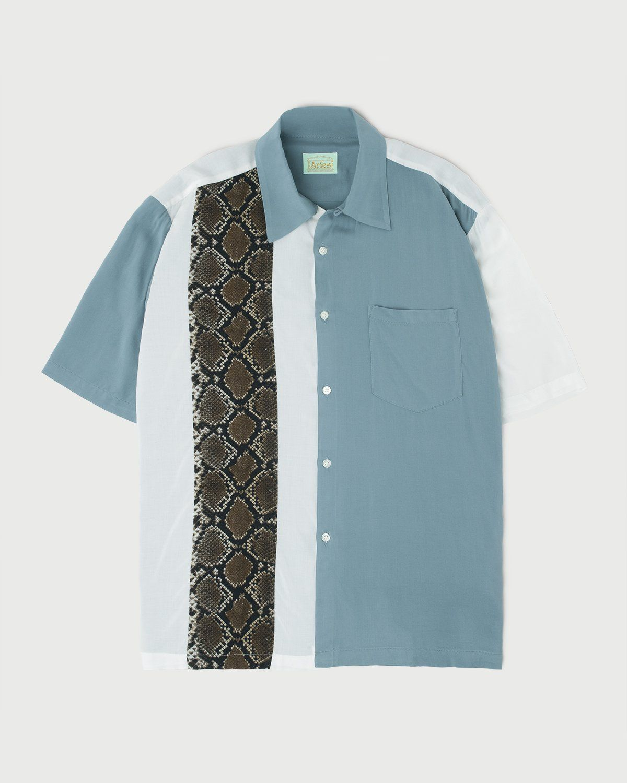 Aries - Hawaiian Shirt With Panel White/Gray - Image 1