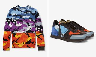 Check Out Our Favorite Camo Pieces From Valentino's FW18 Collection