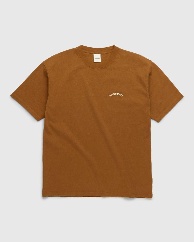 Highsnobiety – Classic Heavy Logo T-Shirt Acorn