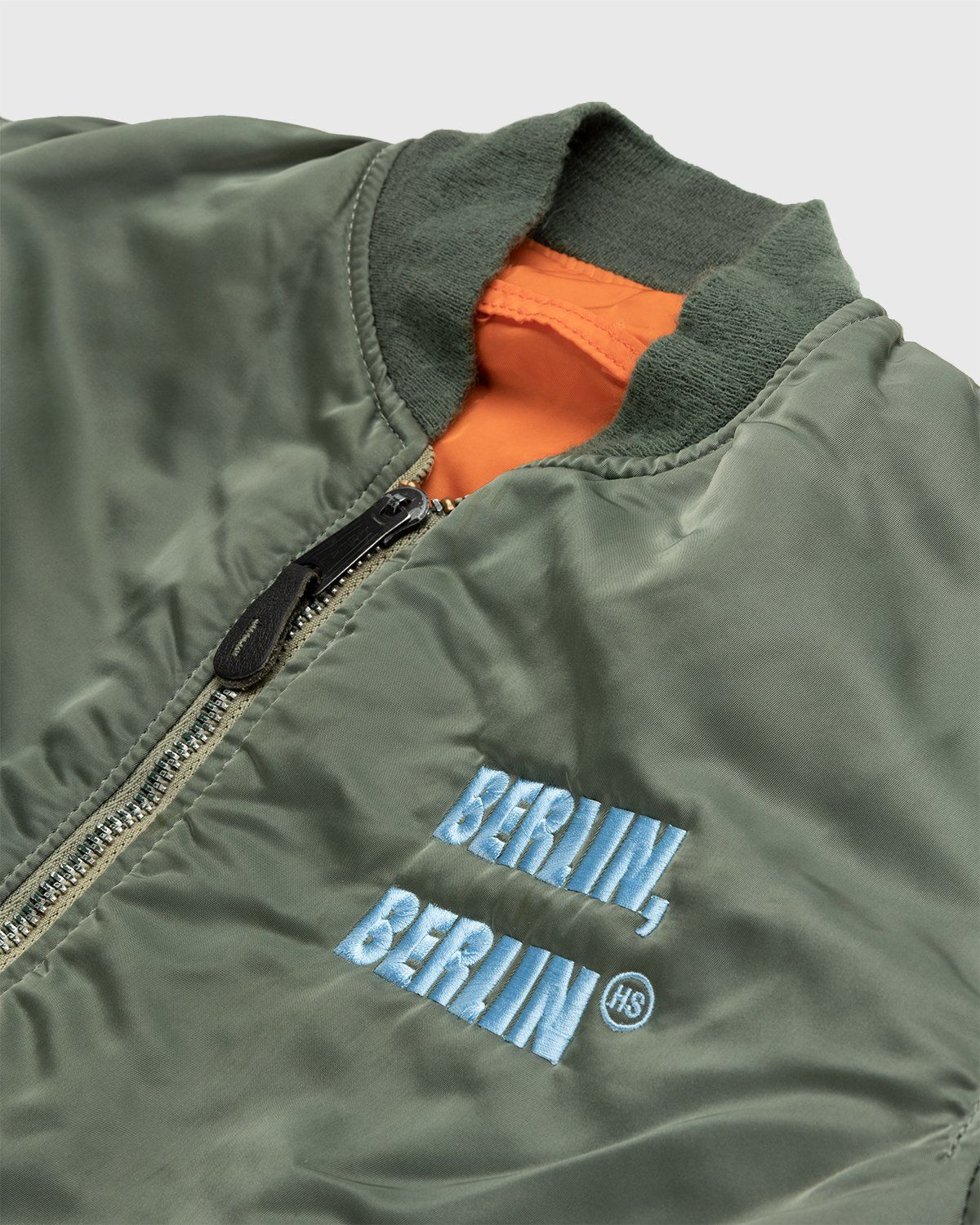 Highsnobiety – Berlin Berlin Embroidered Vintage MA-1 Green - Image 4