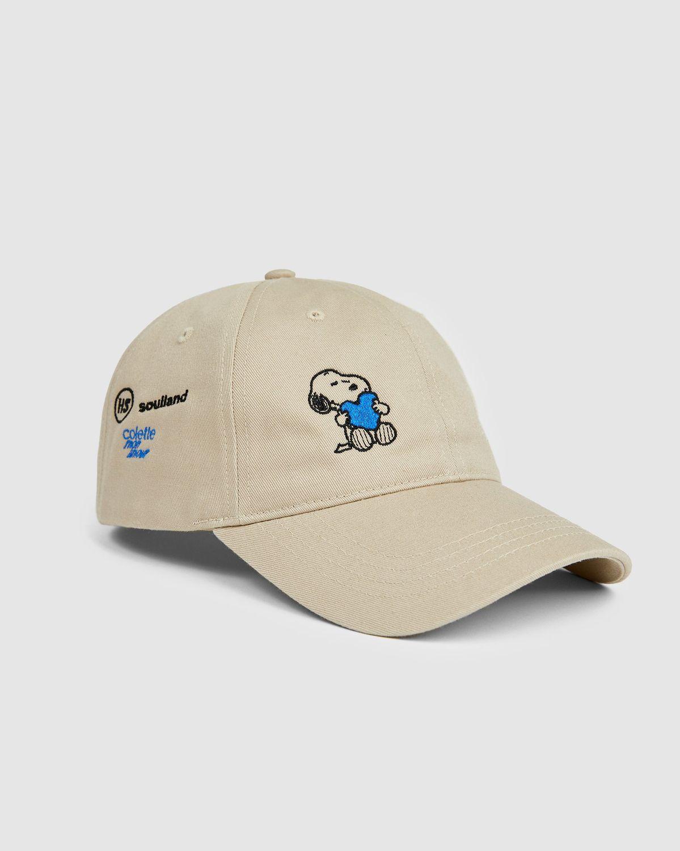 Colette Mon Amour x Soulland -  Snoopy Heart Beige Baseball Cap - Image 1