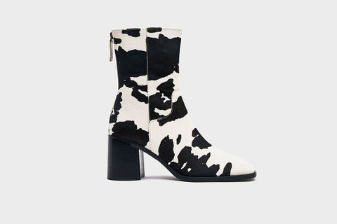 Cow Print Boots