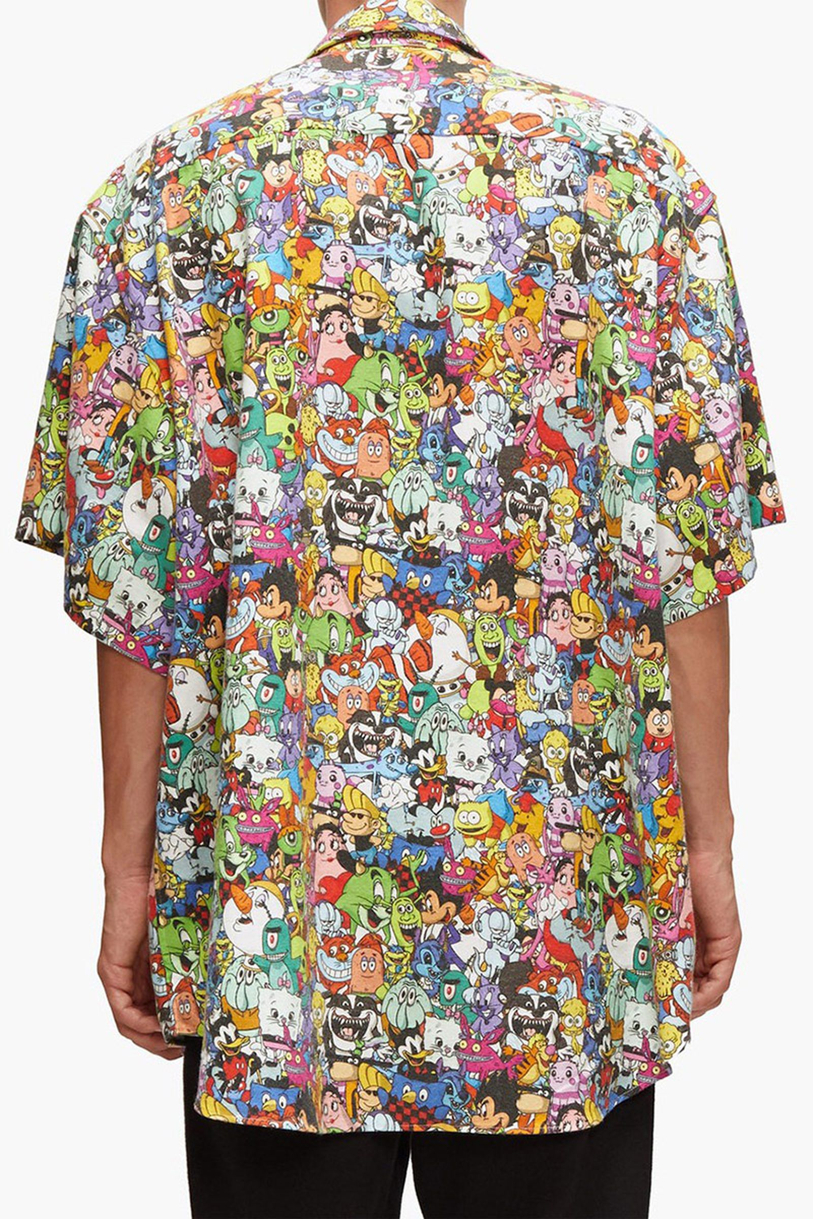 Vetements cartoon print shirt