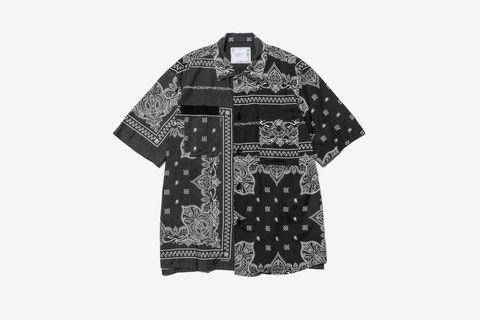 Bandana Print Shirt Black