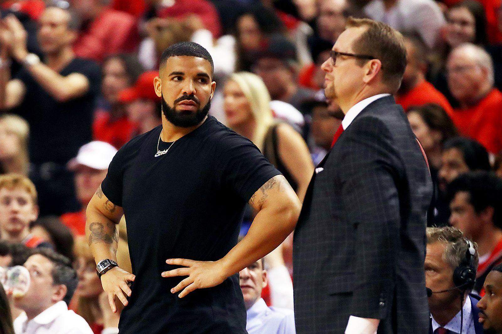 Drake at Toronto Raptors game