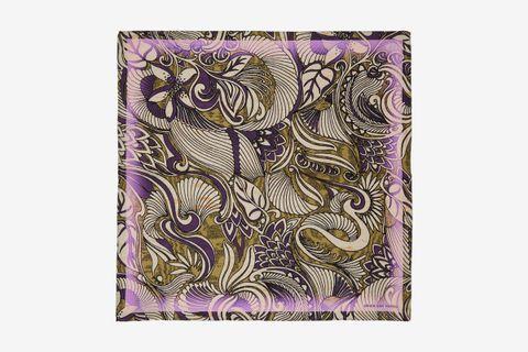 Silk Foliage Pocket Square