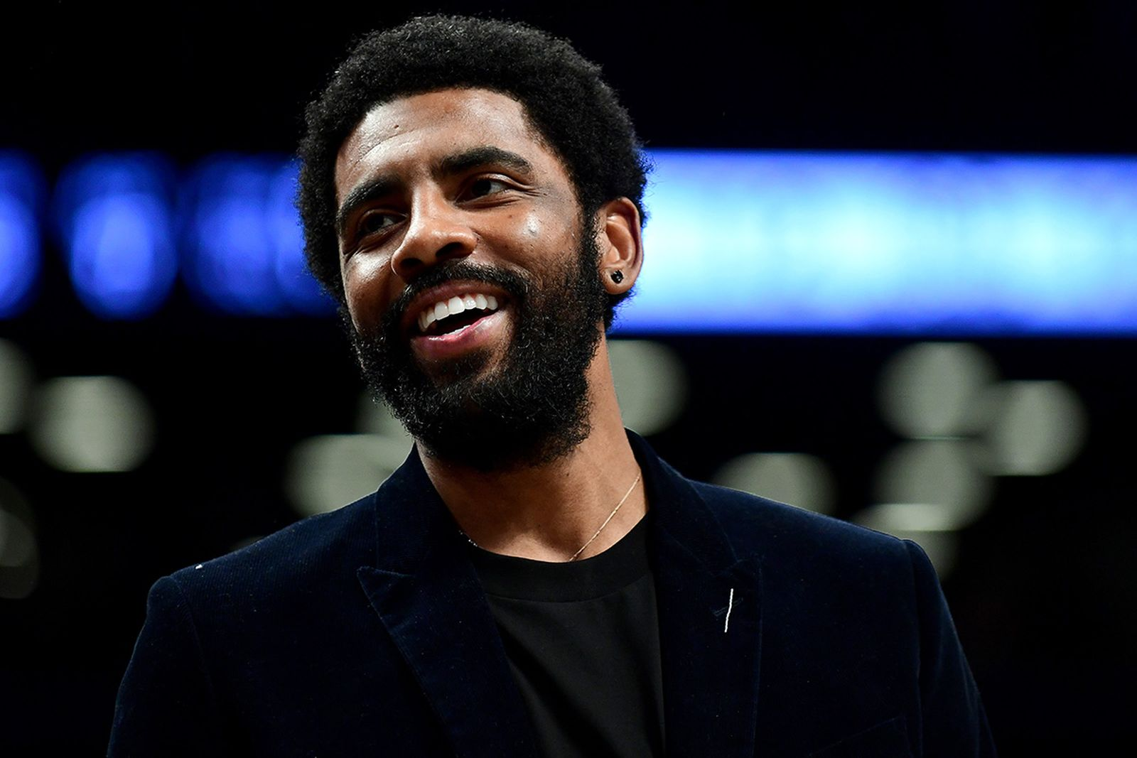 Kyrie Irving smiling