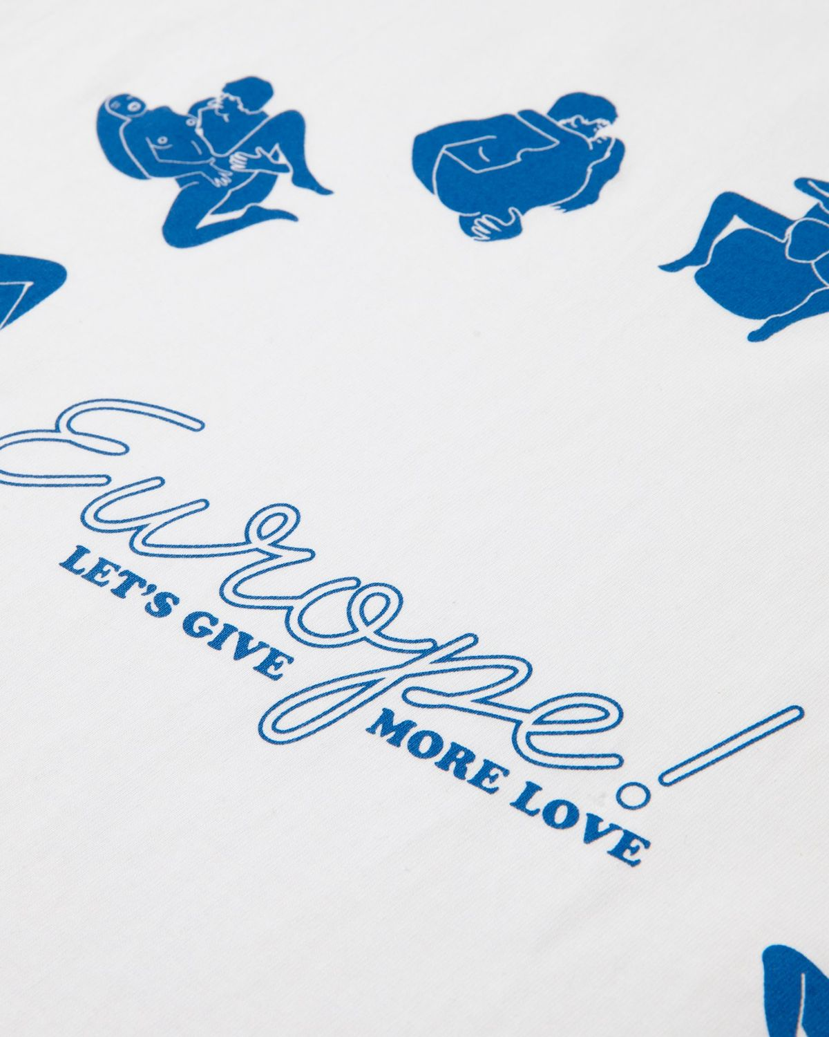 Carne Bollente  — Let's Give More Love T-Shirt White - Image 4
