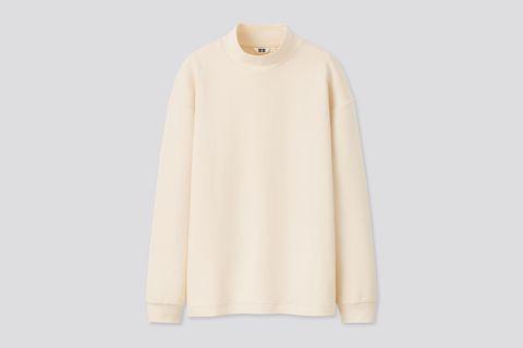 Mock Neck Long-Sleeve Pullover