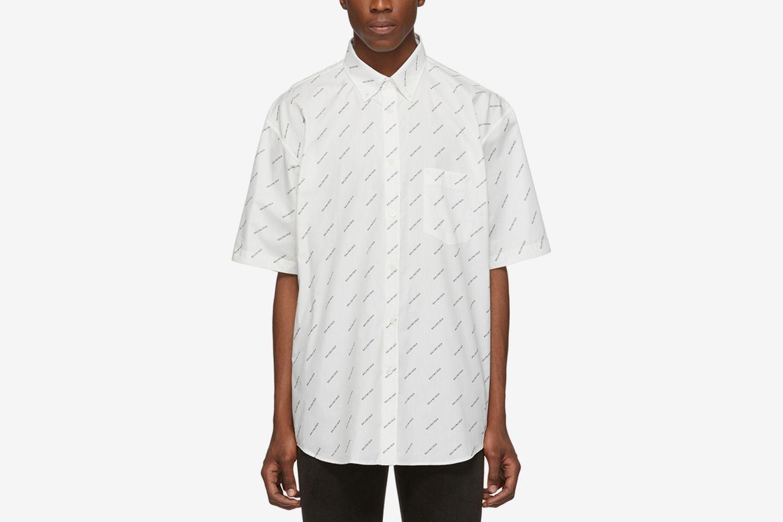 Allover Logo Short Sleeve Shirt