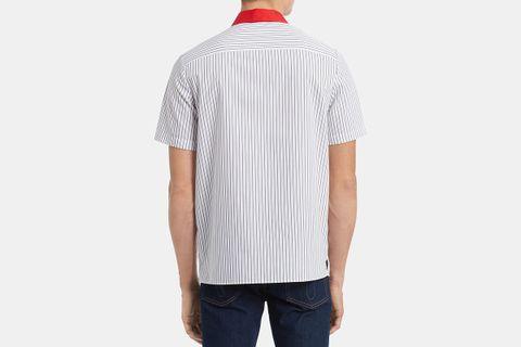 Classic-Fit Yarn-Dyed Stripe Twill Garage Shirt