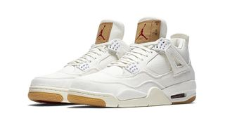 purchase cheap e6628 3f868 Selects Sneakers. Here s How   Where to Buy the White Levi s x Air Jordan 4  ...