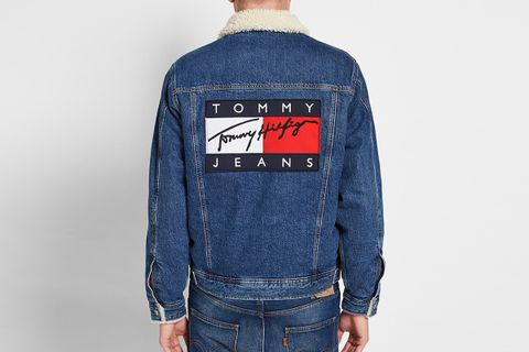 fresh styles official info for Tommy Hilfiger 90's Denim Sherpa Jacket | What Drops Now