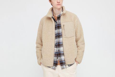 Windproof Pile-Lined Fleece Jacket