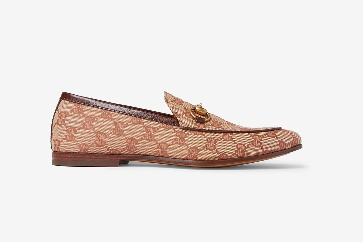 Light Brown Monogrammed Canvas Loafers