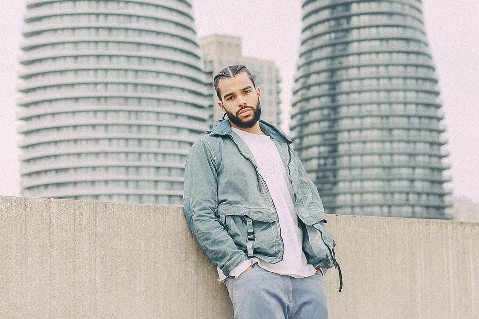 Actor and musician AJ Saudin wears the new M.T.t.N. Goggle Jacket from C.P. Company's SS20 collection.