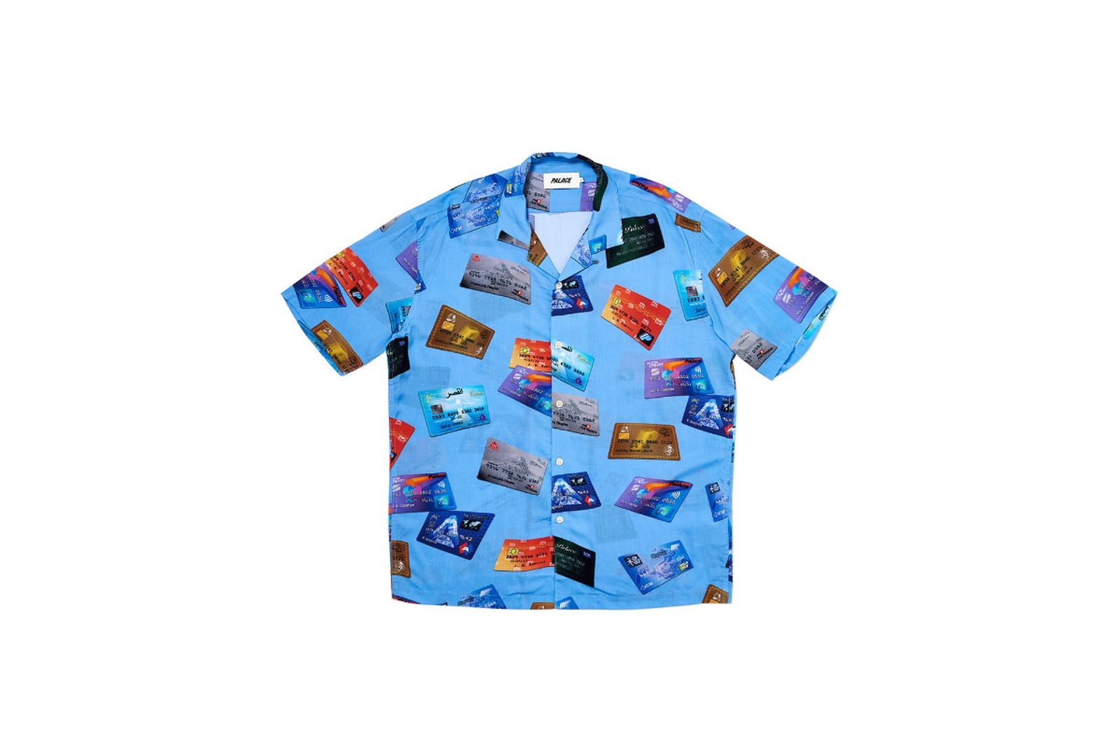 Palace 2019 Autumn Shirt contactless blue front2603 fw19