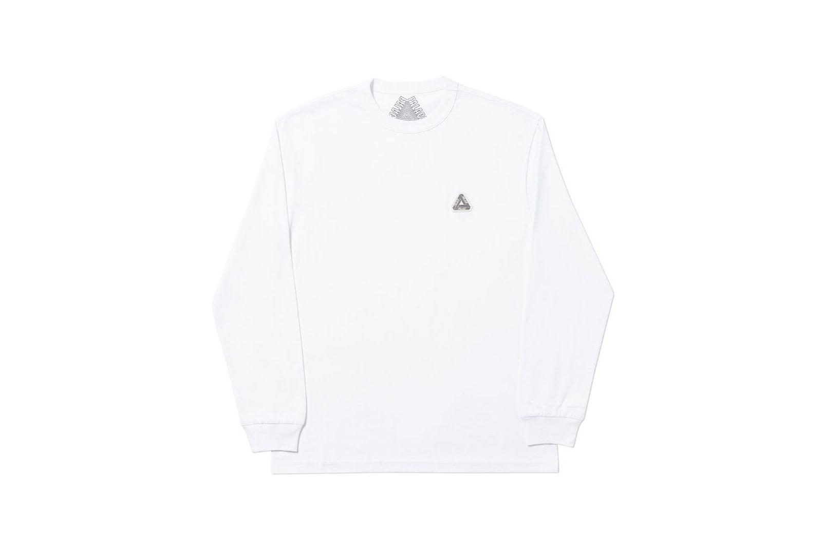 Palace 2019 Autumn Longsleeve T Shirt white