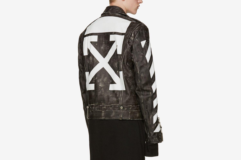 Distressed Biker Jacket