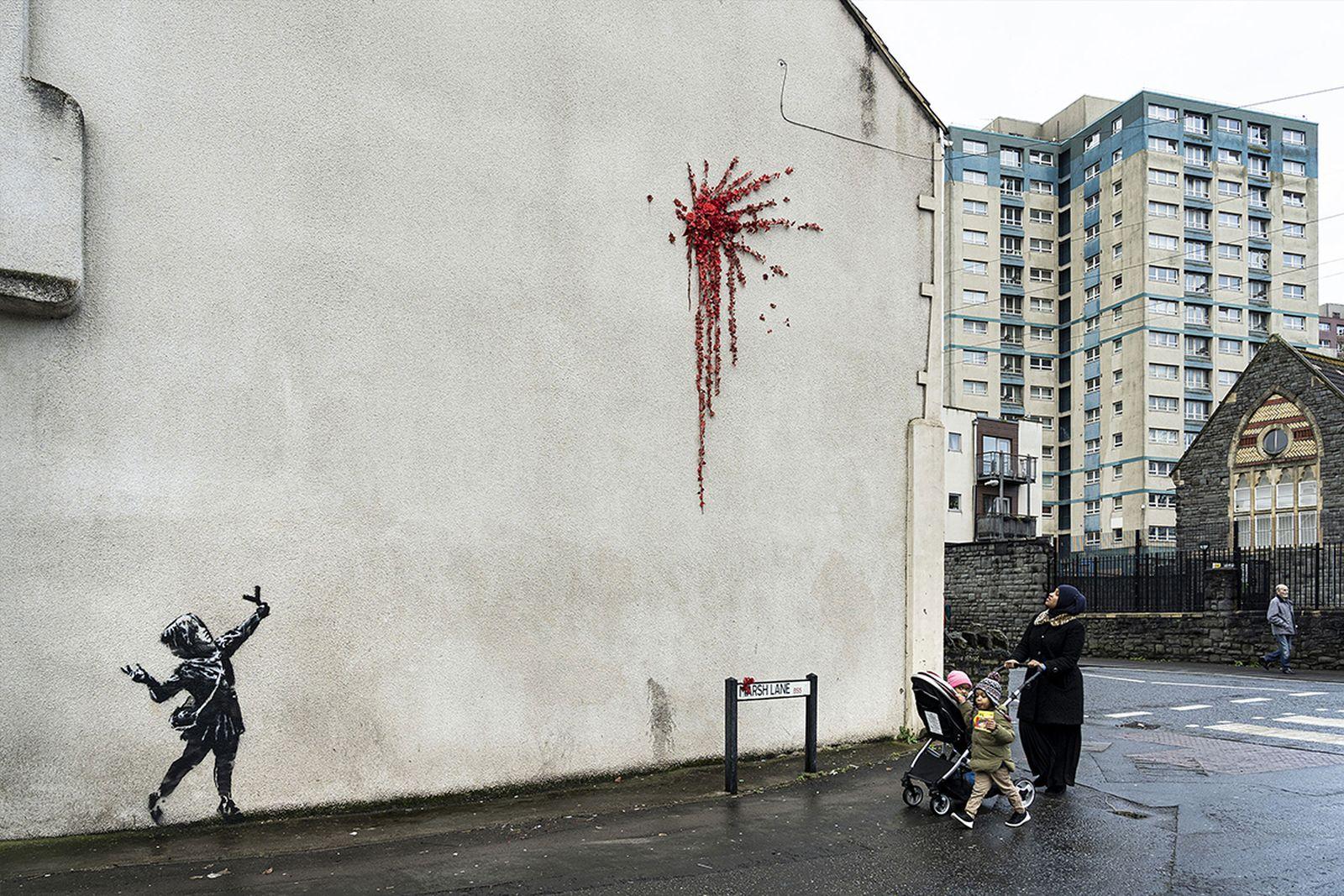 Banksy Valentine's Day Mural
