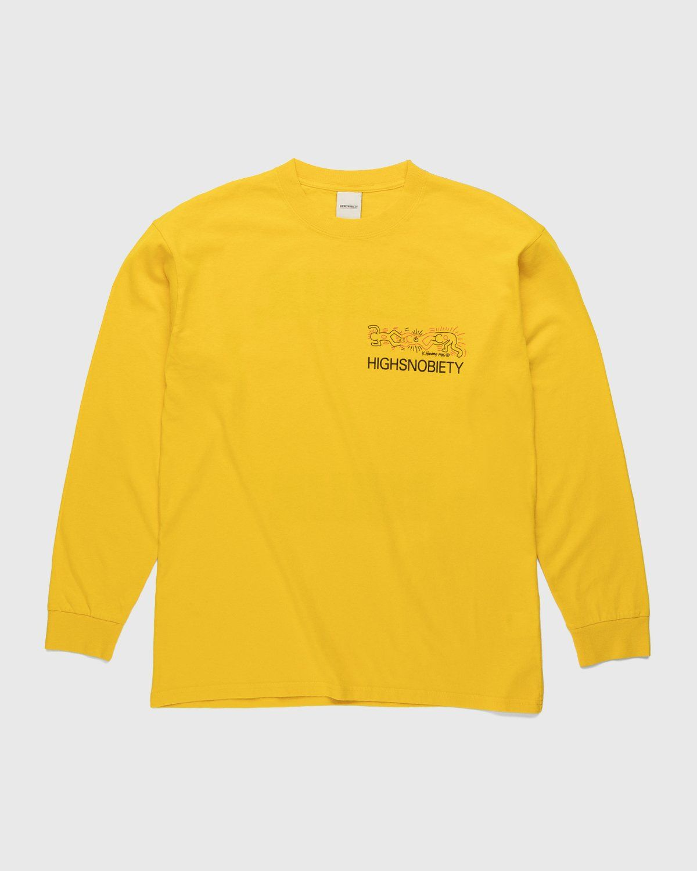 Highsnobiety x Keith Haring – Longsleeve Yellow - Image 2
