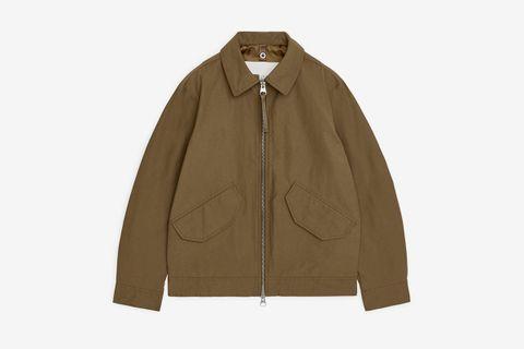 Water-Repellent Harrington Jacket