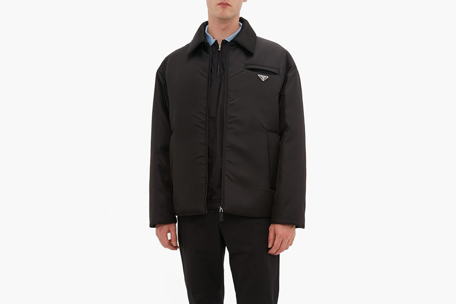 Padded Logo Plaque Nylon Coat